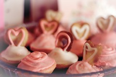 Celebrate Love! (mermiller) Tags: pink love hearts yummy valentine cupcake valentines xo treat valentinesday pinkandwhite delish pastrychef