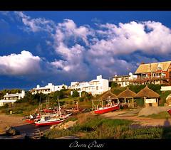Atardecer en Jose Ignacio, Uruguay (DiEgo bErrA) Tags: ocean houses beach boats uruguay atardecer mar barcos playa casas joseignacio