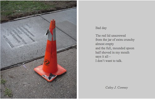 "Caley J. Coney, ""Bad Day,"" Everyday Poems for City Sidewalk. via Public Art Saint Paul"