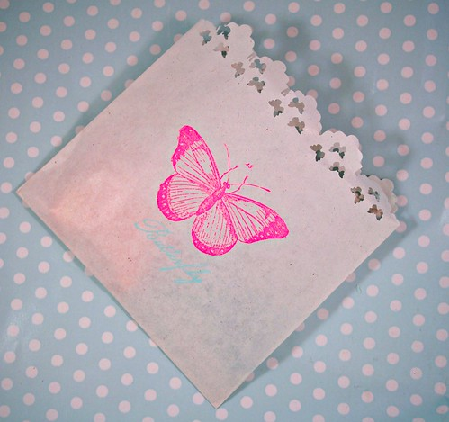 Butterfly cookie bag
