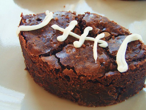 ina garten - outrageous brownies - football shaped (super bowl) - 29