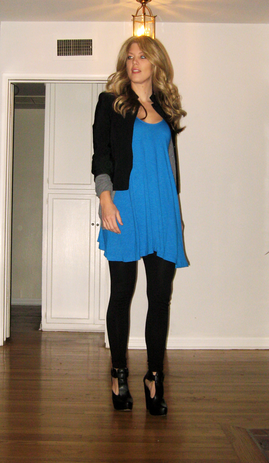blue tunic black blazer-1