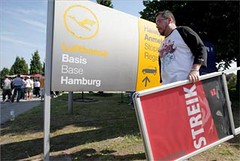 Huelga en Lufthansa