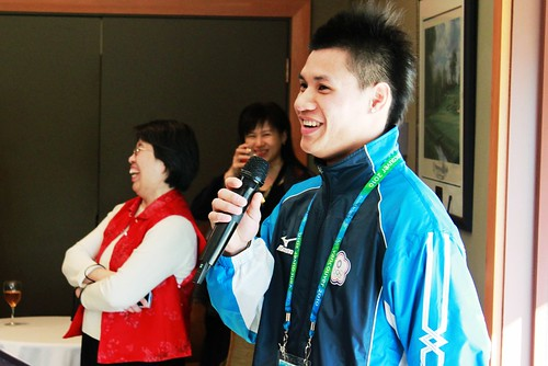 Meeting the Taiwanese Olympian