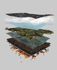 excavation (nicktassone) Tags: trees sky terrain mountains water stone shirt clouds photoshop silver landscape lava design 3d earth space tshirt cinema4d layers bandit threadless select stacks excavation slivers drit selectseries shirtdiesgn
