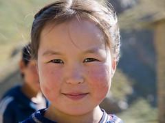Young kyrgyz girl near Tash Rabat