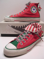 Christmas IV Hi (hadley78) Tags: christmas shoe shoes stripe ripleys ct ox guinness collection converse cons plaid allstar chucks chucktaylors allstars worldrecord hitops lowtops jinglebell lowtop hitop joshuamueller hadley78 thatconverseguy