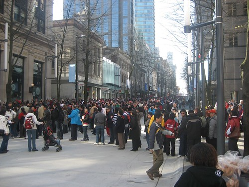 Olympic crowds on Granville Street