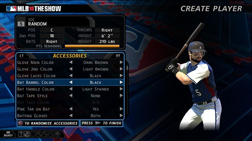 MLB 10: The Show RTTS Create Player