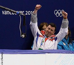 Brian Orser, Kim Yu-Na's coach during Kim Yu-Na's Olympic short program