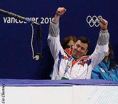 Brian Orser, Kim Yu-Na's coach during Kim Yu-Na's Olympic short program