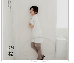250(( PINK-YA )) * C610202-1 * 絕對質感‧UNI美腿方程式洗直紋感丹寧褲棕