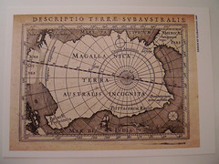 TERRA AUSTRALIS INCOGNITA - THE UNKNOWN LAND OF THE SOUTH (Mumu X) Tags: vintage map postcard terra australis reprint