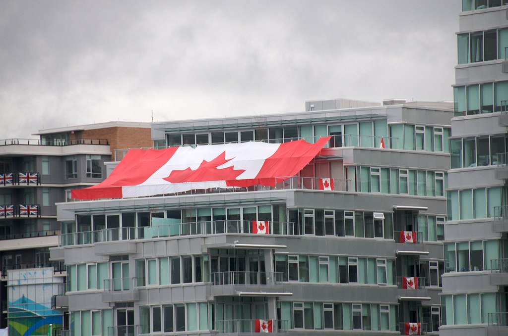Canadian Flag at Athletes Village