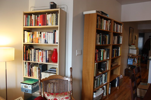 Mismatched BILLY bookcases!