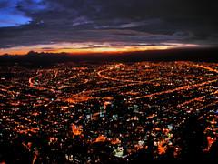 Desde Arriba (garbole) Tags: atardecer luces colombia bogota ciudad nubes monserrate montaas