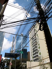 Itaim Bibi (ipedaler) Tags: street city brazil signs brasil architecture buildings lima wires poles paulo bibi electrical sao faria upward itaim