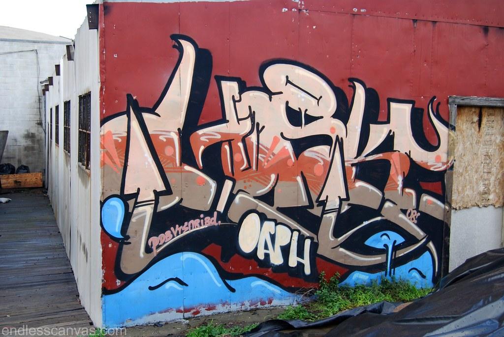 Honky Graffiti Piece in Berkeley, California.
