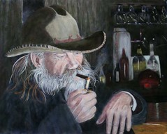 OLD COWBOY (binkie9 (off)) Tags: painting pastelpainting portraitpainting oldcowboy westernart