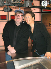 Michael Moore with Rachel Maddow (The Rachel Maddow Show) Tags: michaelmoore msnbc rachelmaddow therachelmaddowshow