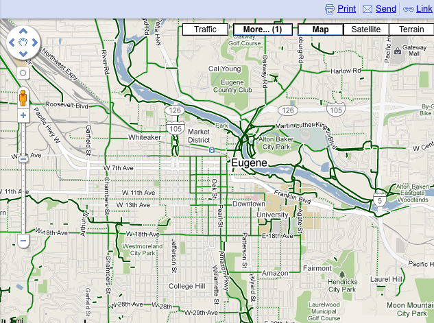 Eugene bike map