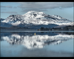 Loch Lomond Reflections (Ben.Allison36) Tags: uk snow mountains reflections landscape scotland scenic finepix loch lomond s8100fd