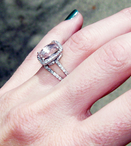engagement ring with pink stone pave diamonds 4
