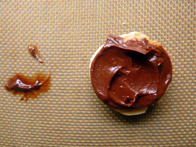 open faced macaron
