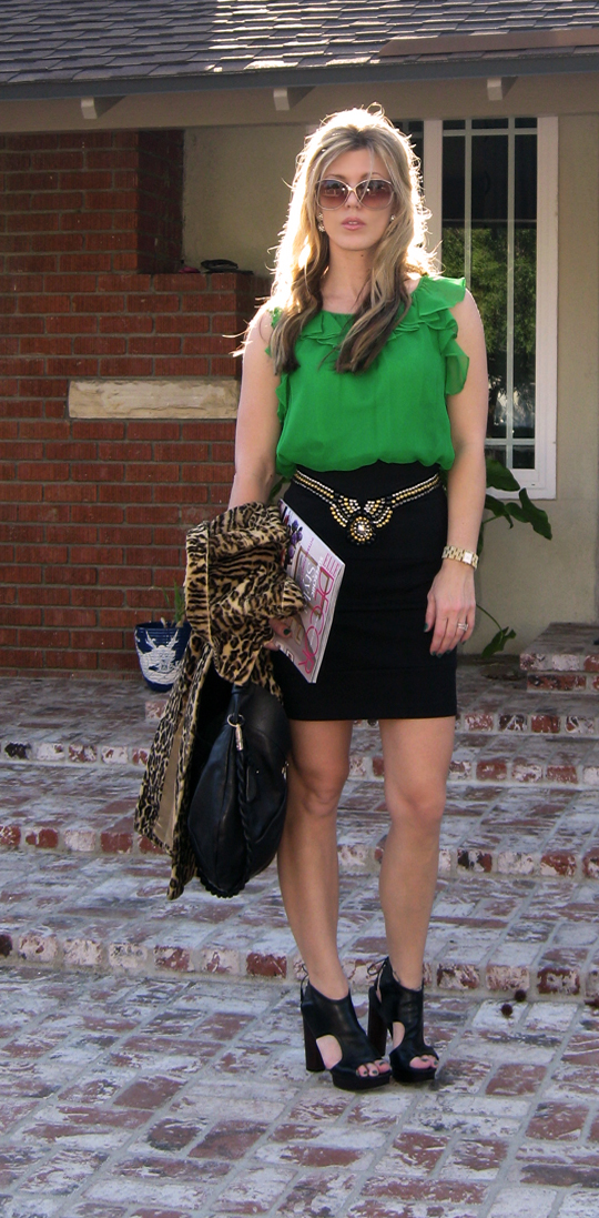 st patricks day green outfit leopard coat-3ac
