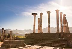 Roman Temple in Volubilis - Morocco (Beum Gallery) Tags: city sky clouds roman ciel morocco maroc nuages romain volubilis vestiges oualili  ancientromancity
