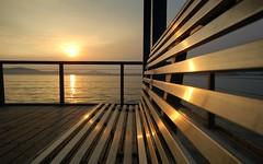 bench (HonleyA) Tags: china sunset lake d50 bench nikon wuxi lihu