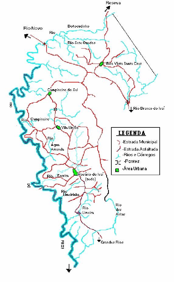 Mapa de Rosário do Ivaí