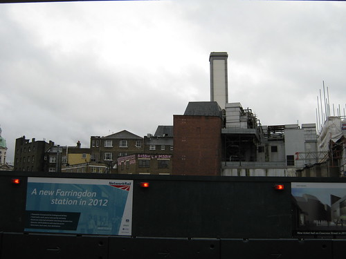 Demolition for new Farringdon Crossrail station by renaissancechambara