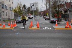 Going bike boulevard at MLK Jr. Blvd-7