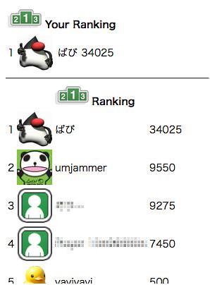 OpenFeint Ranking on GAE/J