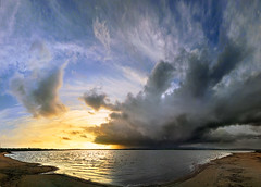 Half Light (CostaDinos) Tags: light cloud lake seascape storm reflection nature rain wall dark landscape waves wind hurricane cell cyprus front gale saltlake thunderstorm tornado thunder larnaca lightining larnaka cloudfront weaher inflow darksunset    cloudsstormssunsetssunrises