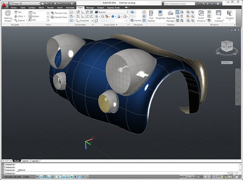 AutoCAD 2011 Surfaces Toy Car Body by you.