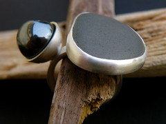 pebbles series ring 1 (hybrid handmade (Cari-Jane Hakes)) Tags: sea silver handmade contemporary ring pebble bead handmadejewelry haematite silverjewellery silverjewelry beachpebble handmadejewellery contemporaryjewellery contemporaryjewelry pebblejewellery pebblejewelry