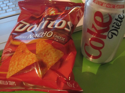 Chips and soda - $2.50