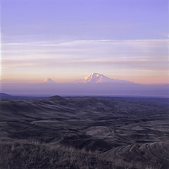 Mount Ararat (Tigran Hayrapetyan) Tags: noah morning 120 6x6 film landscape photo view mount hasselblad armenia sis armenian masis ararat ar 503cw da platinumphoto