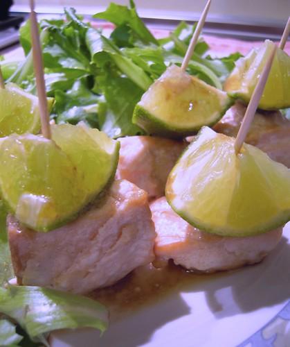 salmone al lime