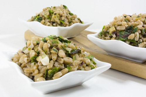 Green Garlic Farro and Greens Salad