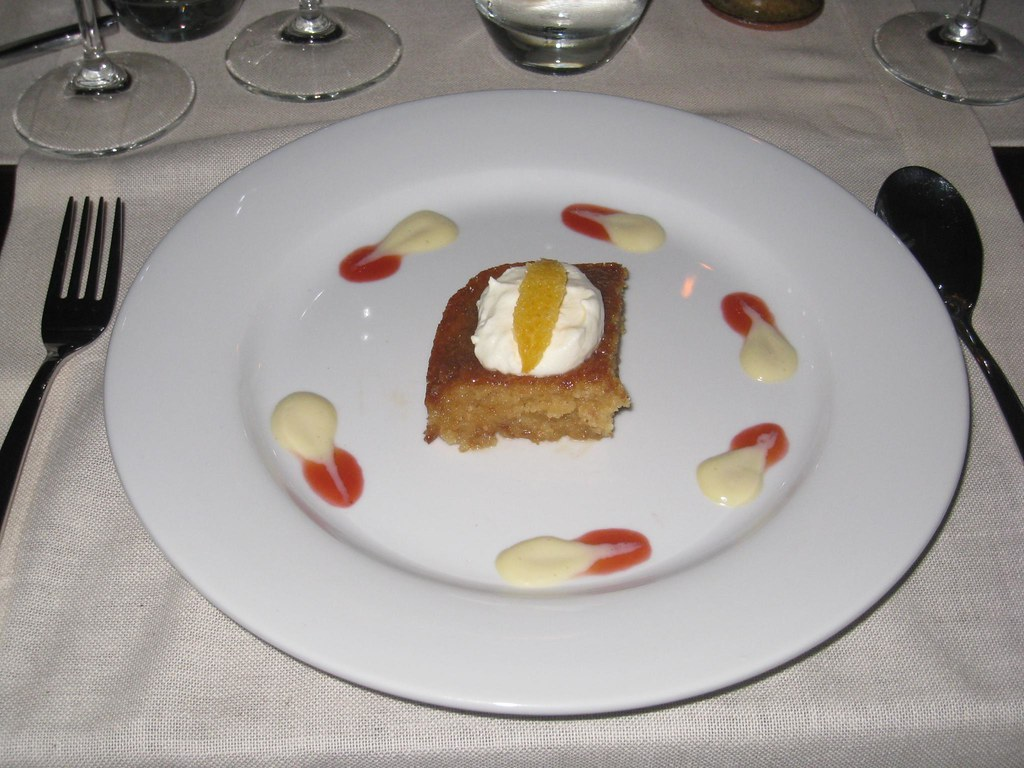 The malva pudding was decadent.