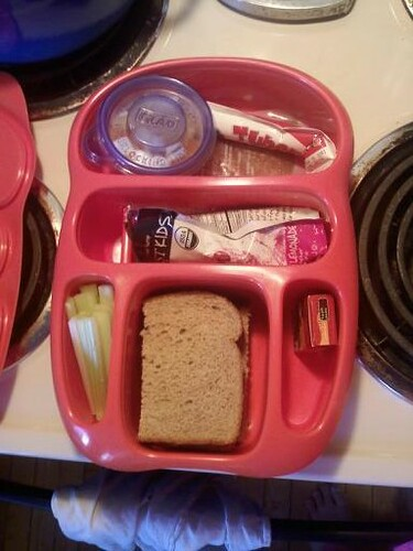 an organized lunch