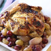 Roasted Cornish Hen with Grapes