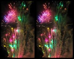 Fireworks Hyper-Stereoscopic Cross Eye 3D (Stereotron) Tags: 3d 3dphoto 3dstereo 3rddimension spatial stereo stereo3d stereophoto stereophotography stereoscopic stereoscopy stereotron threedimensional stereoview stereophotomaker stereophotograph 3dpicture 3dglasses 3dimage crosseye crosseyed crossview xview cross eye squint squinting freeview hyperstereo canon ixus960 sdm stereodatamaker tonemapping longexposurequietearth europe germany saxony dresden fancyframe floatingwindow airtight frame spatialframe stereowindow window 3dframe firework fireworks firecracker sky rockets night lighting colorful explosions 349 448082010 chdk ixus 960 beautiful smoke glitter trails sparks sidebyside sbs kreuzblick feuerwerk 100v10f