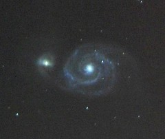 M51  The Whirlpool Galaxy (mykcie) Tags: lumix panasonic gh1 irishastronomy Astrometrydotnet:status=solved Astrometrydotnet:version=14400 Astrometrydotnet:id=alpha20100412438600