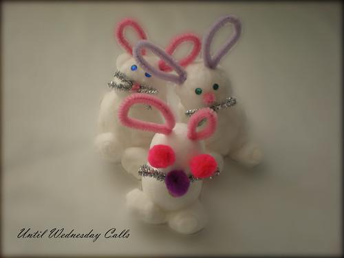 Cotton Bud Bunnies