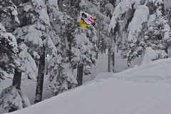 Sammy Carlson flying over 3 feet of fresh! (MtHoodMeadows) Tags: snow ski oregon mthood snowboard mthoodmeadows