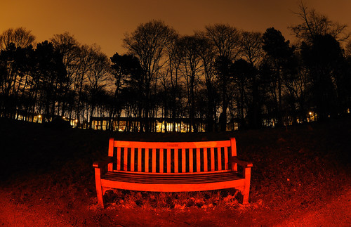 4am: Hemmingway's Bench in Red